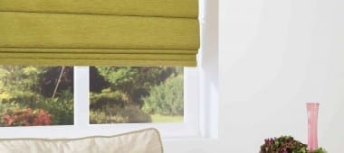 Olive roman blinds