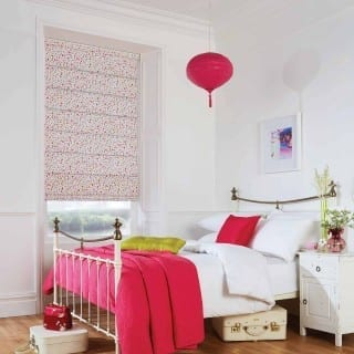 Watermelon roman blinds
