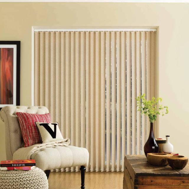 Parchment vertical blinds
