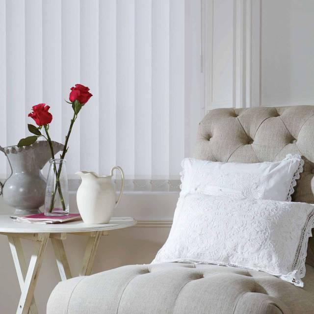 Rose white vertical blinds