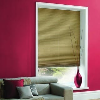 Pleated Shot Silk Champagne Blinds
