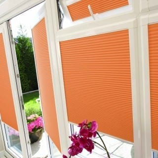 Pleated Twilight Esp Terracotta Blinds