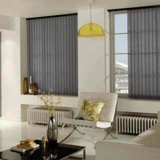 Pewter vertical blinds