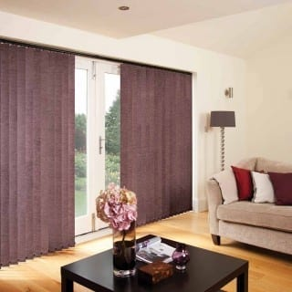 Chenille Mulberry vertical blinds