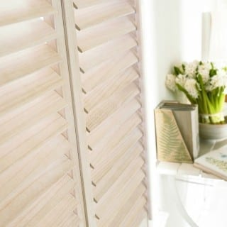Wood shutters close up