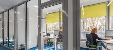 Blinds in a office