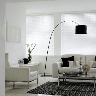 Gloss white venetian blinds