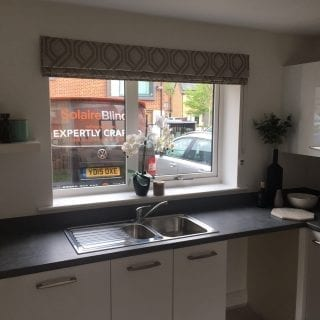 Roman blinds in a kitchen