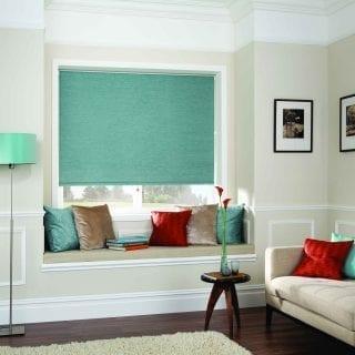 Blinds in living room