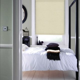 Blinds in bedroom