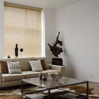 Maple wooden blinds