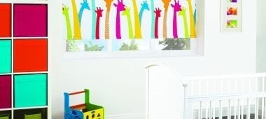 Motorised giraffe print blinds