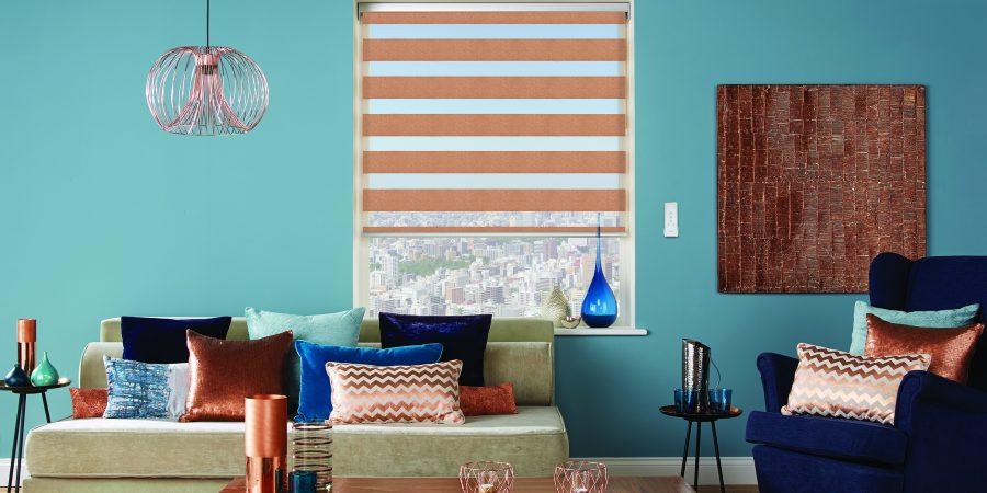 Motorised copper blinds