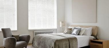 Blinds in a bedroom