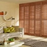 Taupe wooden shutters