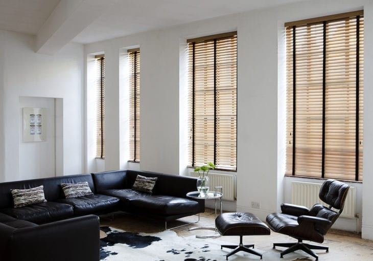 Blinds in a living room