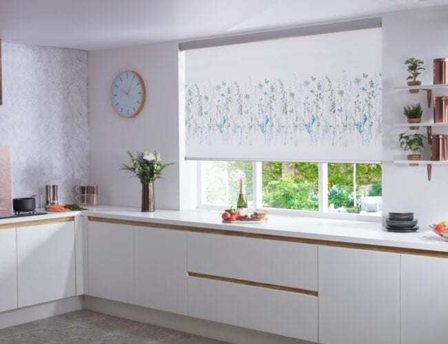 Algarve Summer Modern roller blinds in a kitchen