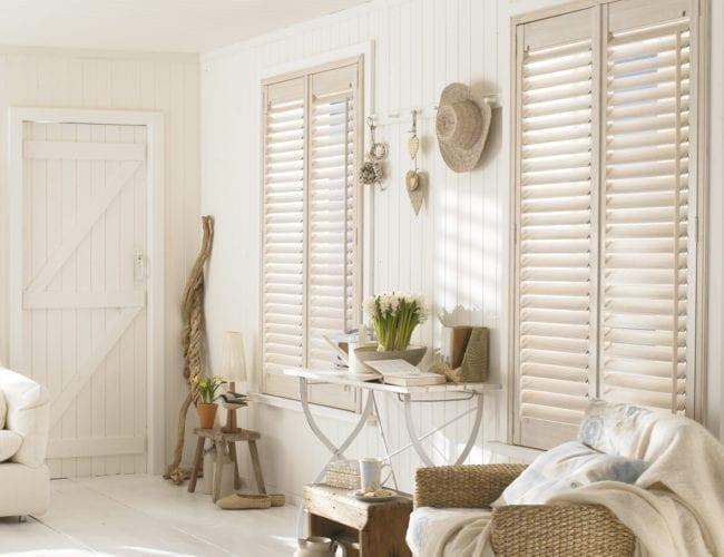 Lounge plantation shutters