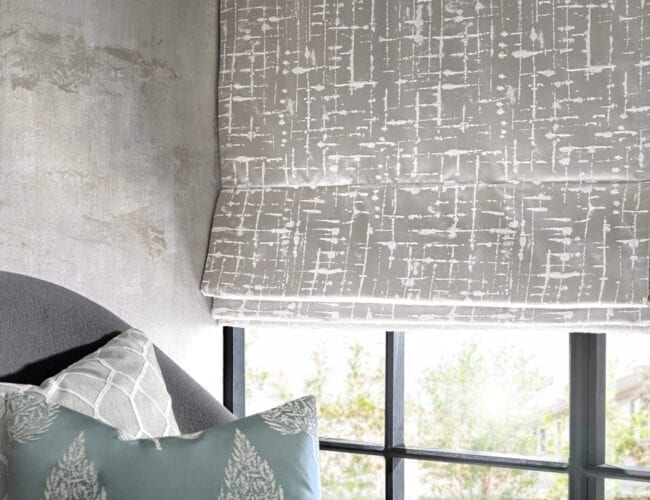 Lounge roman blinds